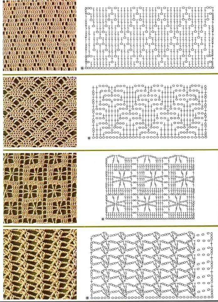 szydełko / wzór // Pattern crochet | Crochet stitch pattern ...