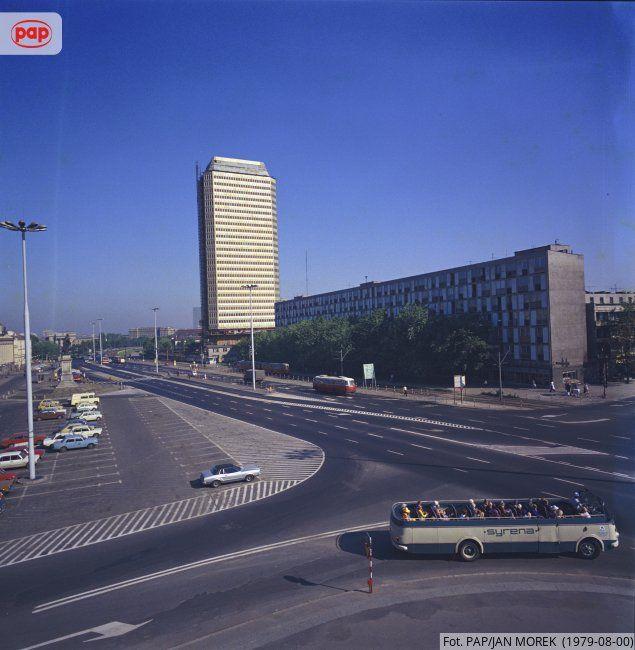 Plac Dzierżyńskiego. Warszawa, sierpień 1979 r.
