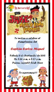 Invitación Digital Jake Y Los Piratas De Nunca Jamás