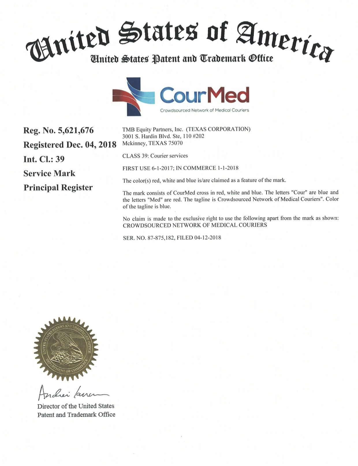 CourMed...United States Patent and Trademark Office