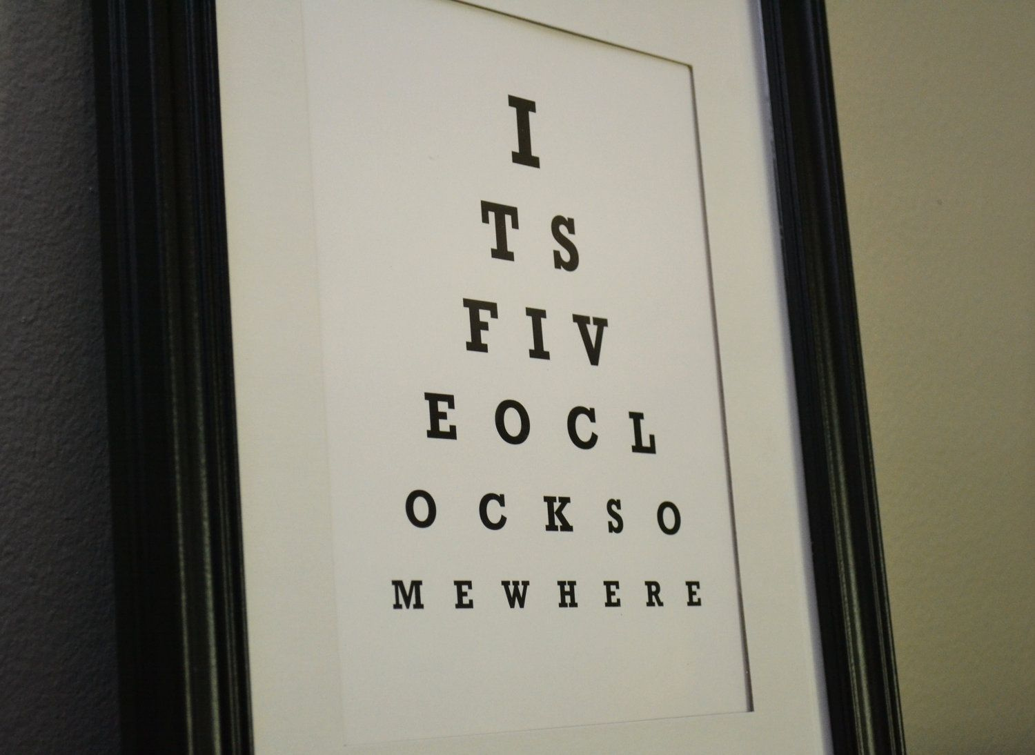 Eye chart print its five oclock somewhere by bandaprints 950 eye chart print its five oclock somewhere by bandaprints geenschuldenfo Gallery