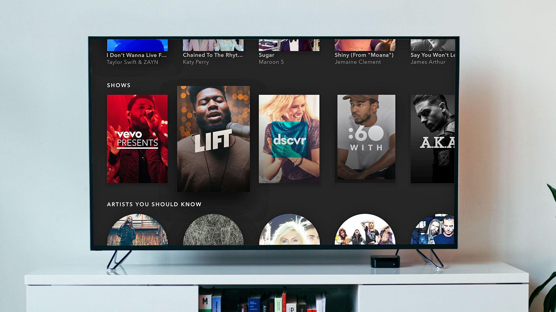 Vevo's Apple TV app takes cues from Spotify Tv app