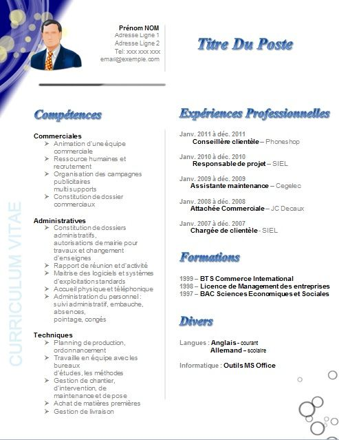 cv assistante direction marketing