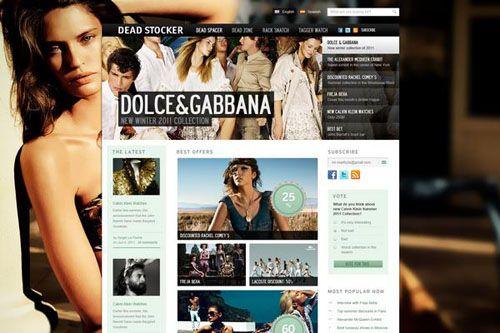 Dead Stocker – Free PSD Fashion Website Template