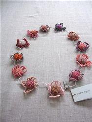 Sophie Digard, Scarf, merino, crochet, french, mosaic
