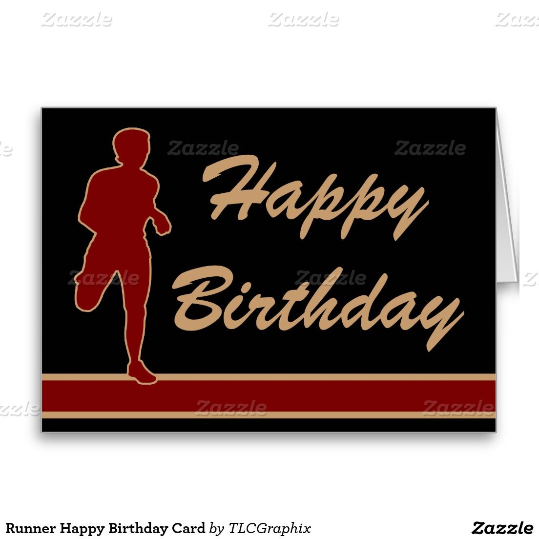 Runner Happy Birthday Card Happy Birthday Cards Happy Birthday Pictures Happy Birthday