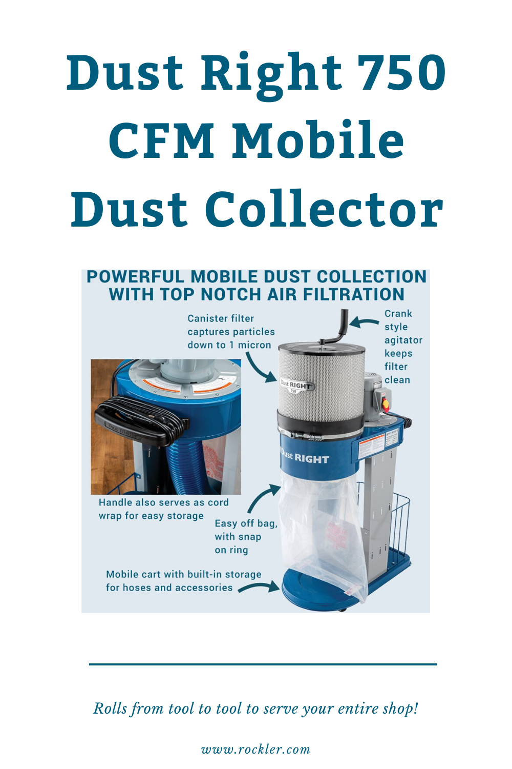 Dust Right 750 CFM Mobile Dust Collector in 2020 Dust