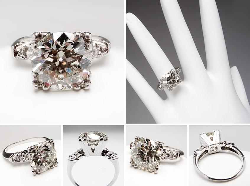 1940u0027s Vintage 3 Carat Diamond Engagement Ring In Platinum ....$25,000 .