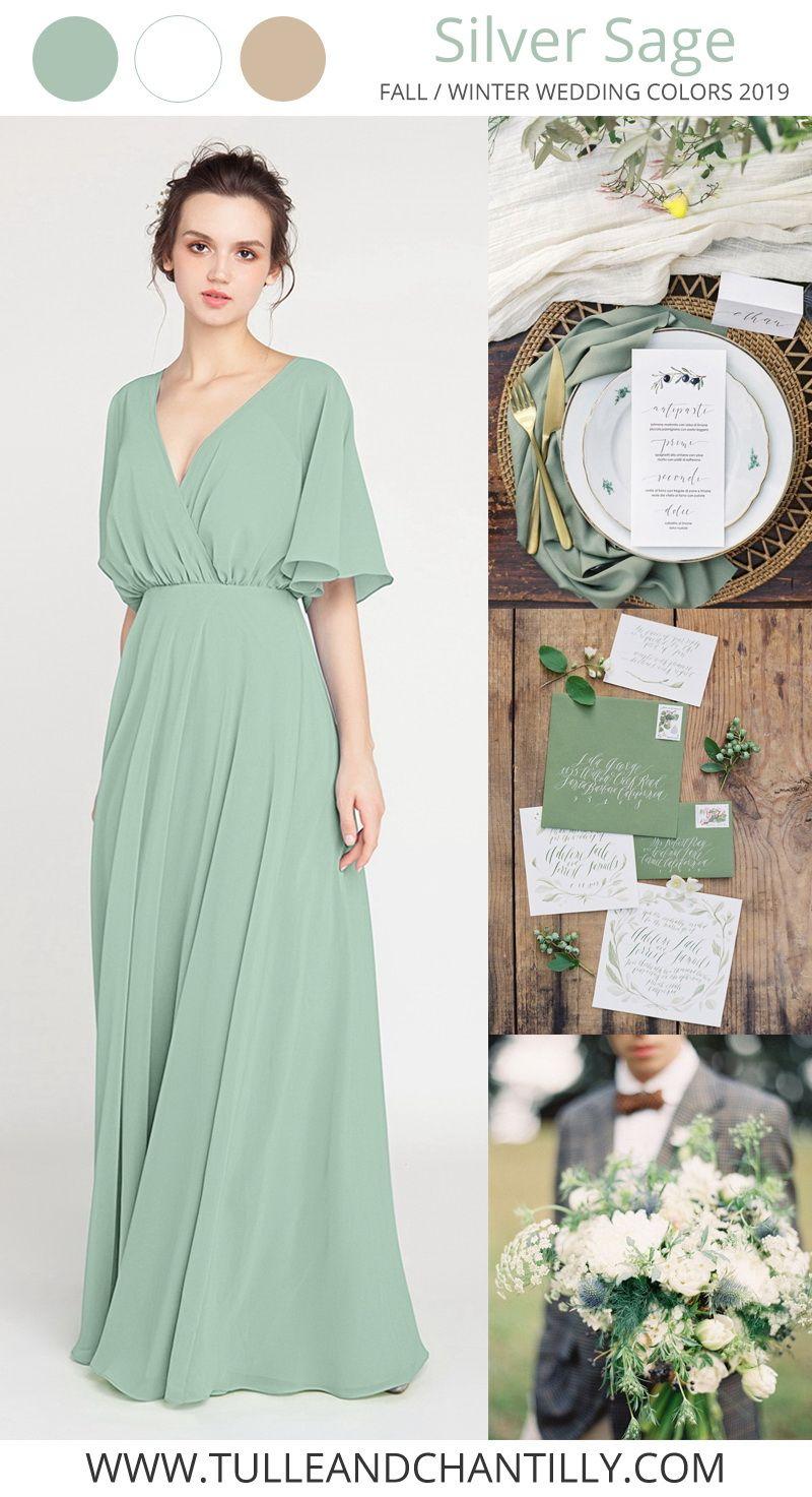 V Neck Sleeved Long Bridesmaid Dress With Open Back Tbqp385 Shower Dress For Bride Sage Green Bridesmaid Dress Winter Bridesmaid Dresses [ 1473 x 800 Pixel ]