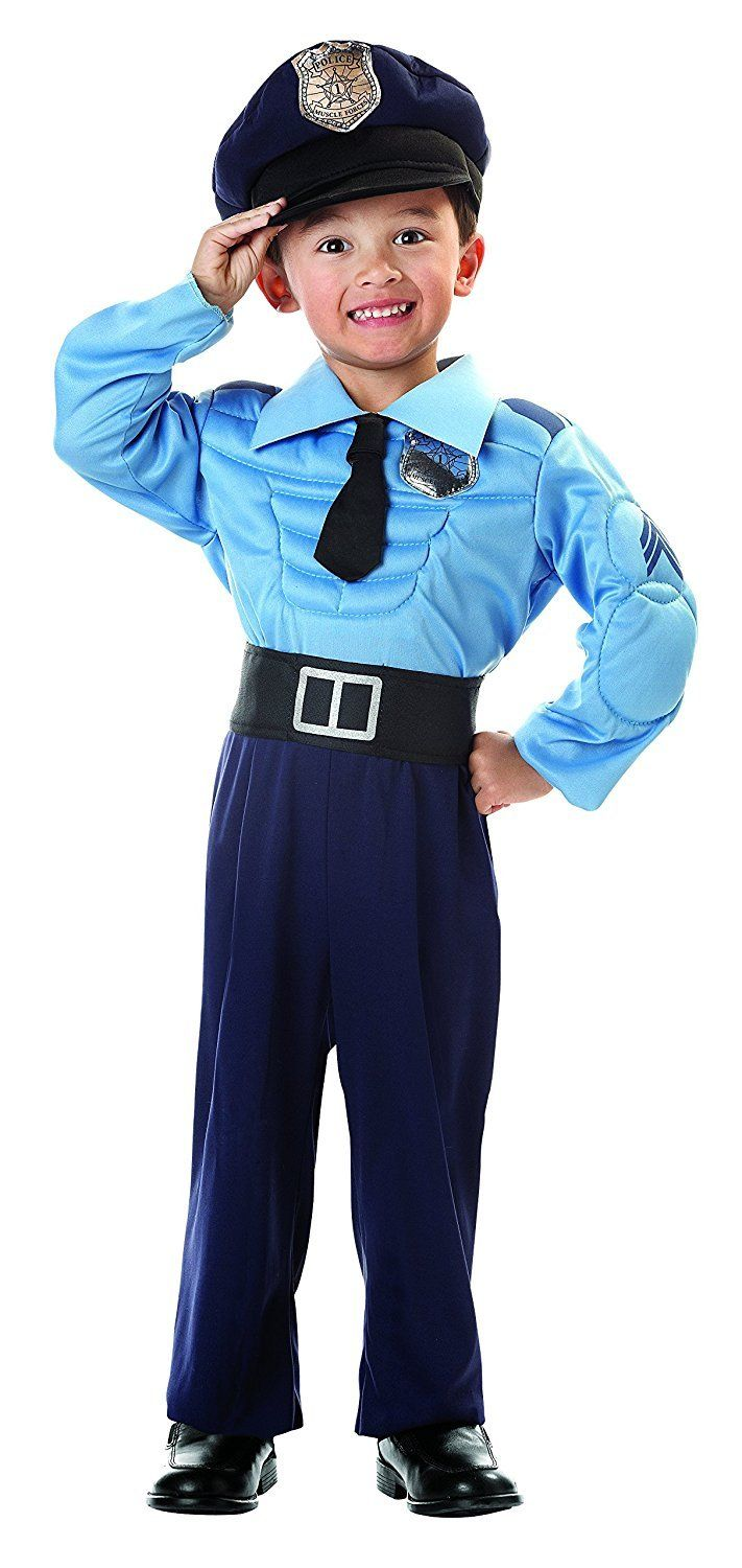 Seasons Lilu0027 Police Officer Toddler Costume with Muscles u0026 Hat (Fits 2T-4T)  sc 1 st  Pinterest & Seasons Lilu0027 Police Officer Toddler Costume with Muscles u0026 Hat (Fits ...