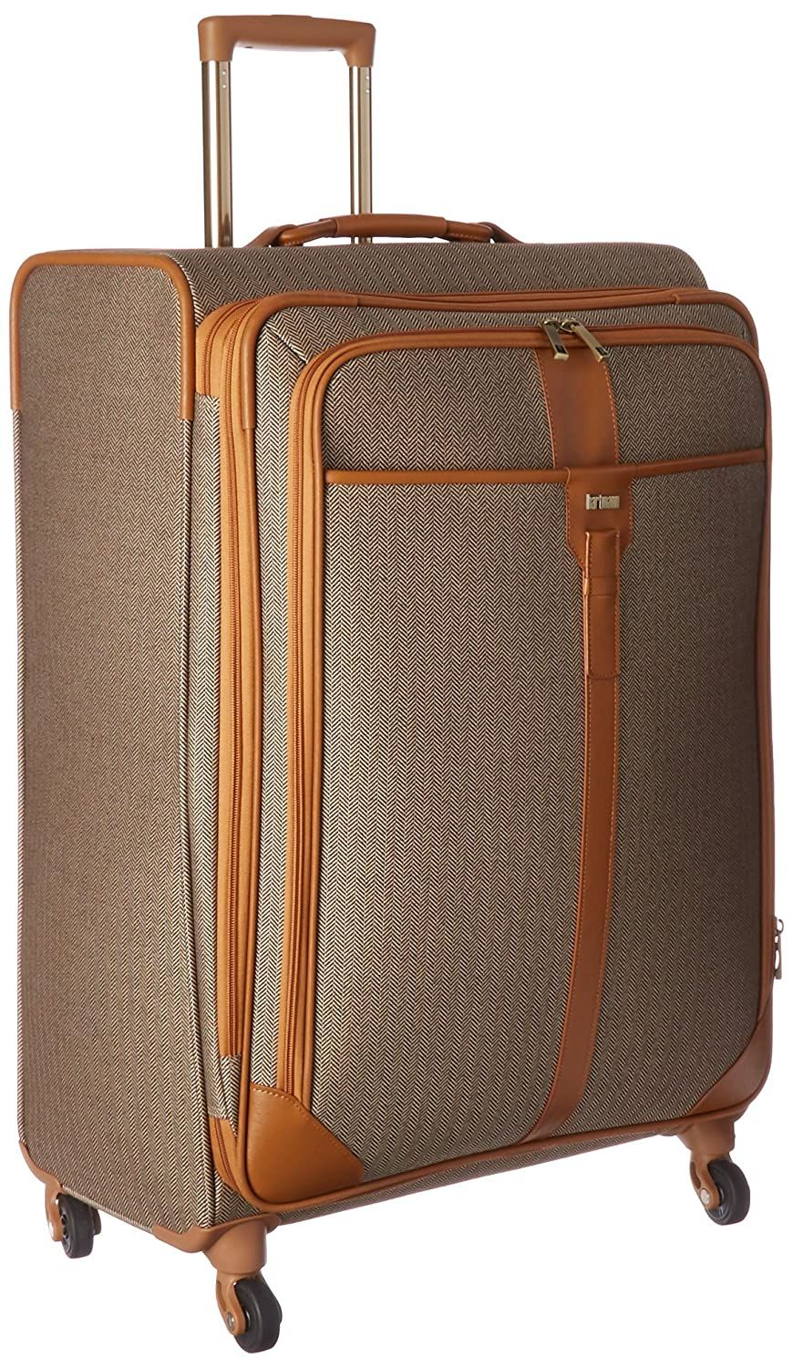 Hartmann Herringbone Luxe Expandable Softside Luggage with Spinner Wheels