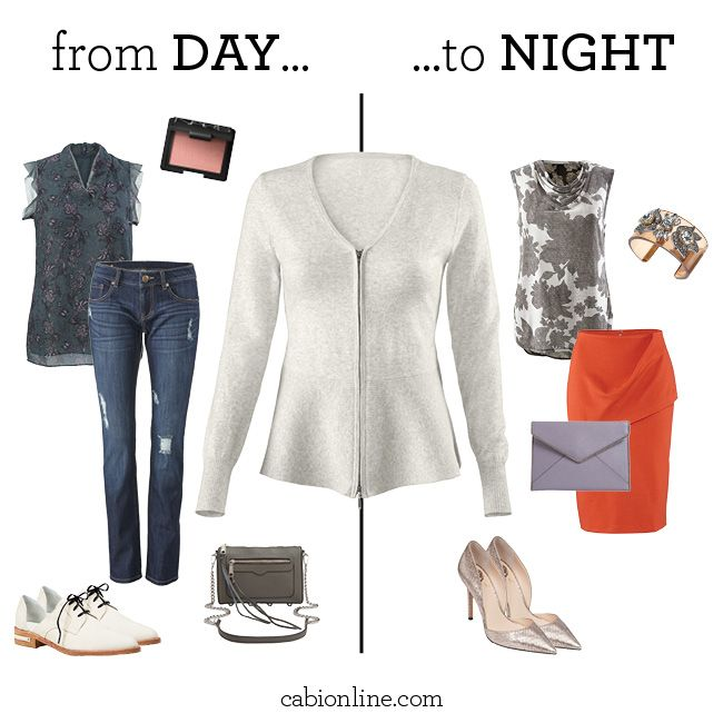 #cabi -  Two different cabi looks. One cardigan.