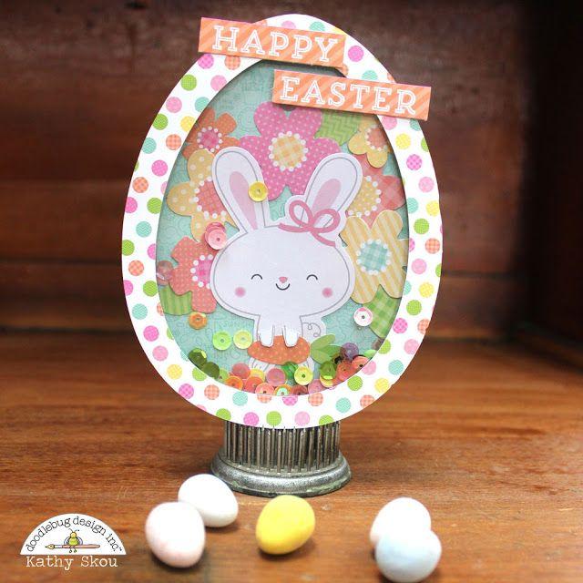 Doodlebug Design Inc Blog: Easter Express Collection: Easter Egg Card and Gift Bag With Kathy