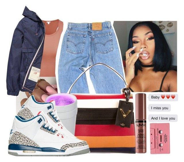 """""""Dutch"""" by therealslimm ❤ liked on Polyvore featuring Tommy Hilfiger, Levi's and Valentino"""