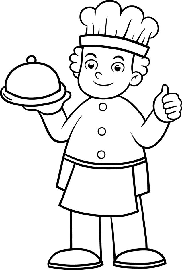 Coloriage cuisinier a imprimer gratuit colorier dessin - Cuisinier dessin ...