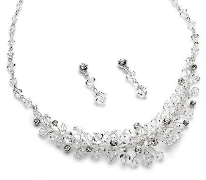 Bridal Jewelry Set Swarovski Crystal Necklace Wedding Porn