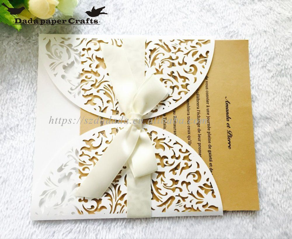 Hk9 Wholesale Indian Wedding Favors Laser Cut Hollow Invitation Card ...