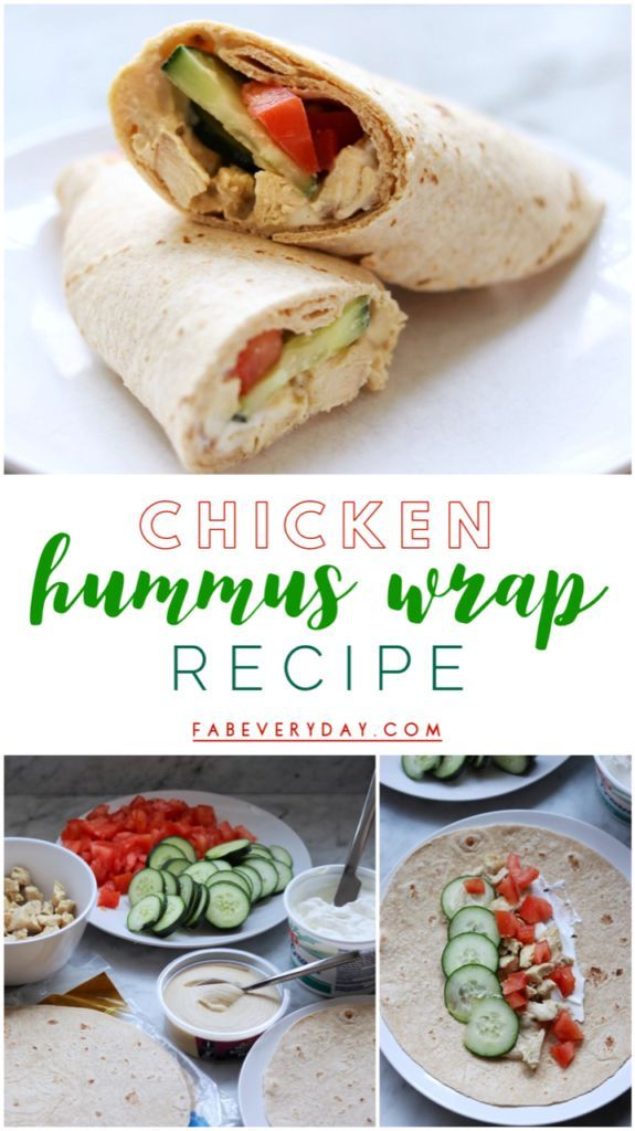 Chicken Hummus Wraps images