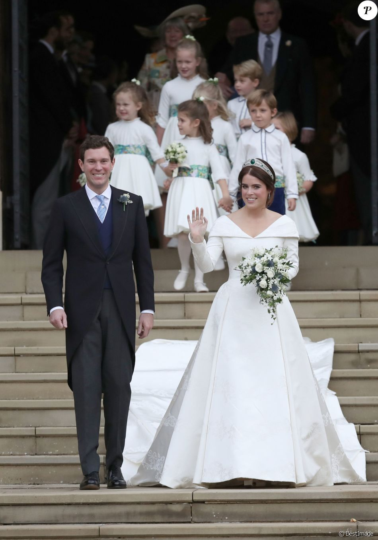 Mariage De La Princesse Eugenie Le Tendre Baiser Des Jeunes Maries