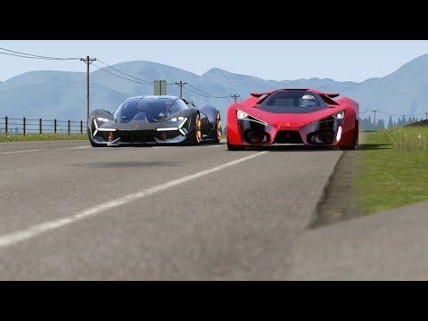 Lamborghini Terzo Millenio Concept vs Ferrari F80 Concept at Highlands 1