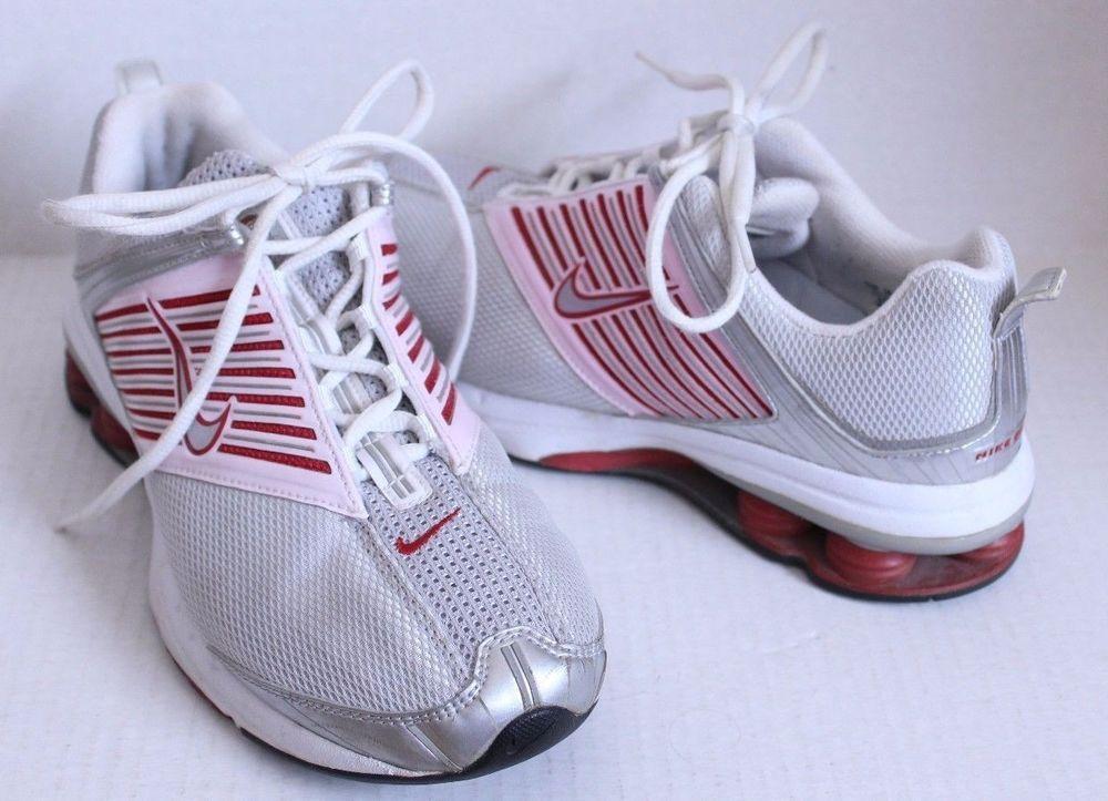 Nike Shox Size 8.5 M Rolling Rail Tennis Shoes Mesh Silver Red Pink VTG 2005  #Nike #Tennis