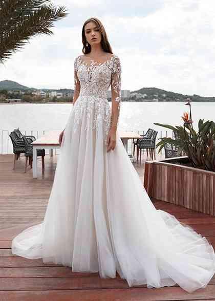 7997 Sheath Wedding Dress by Demetrios - WeddingWire.com