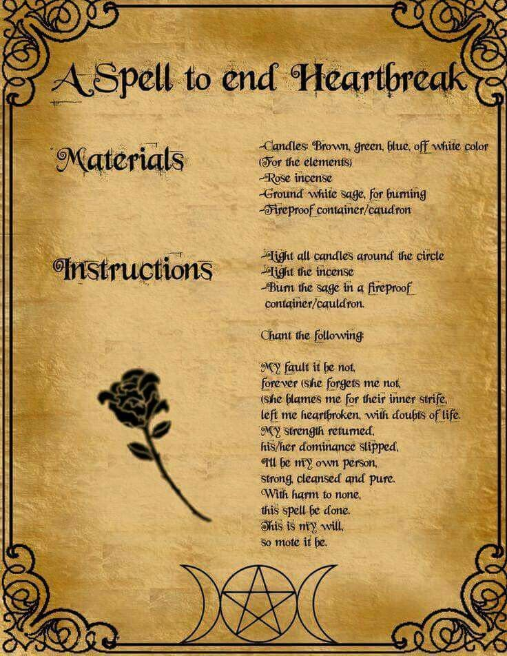a spell to end heartbreak | witch | Witchcraft spells for