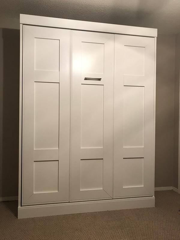 Edge by Bestar Wall Bed, White Sam's Club Murphy bed