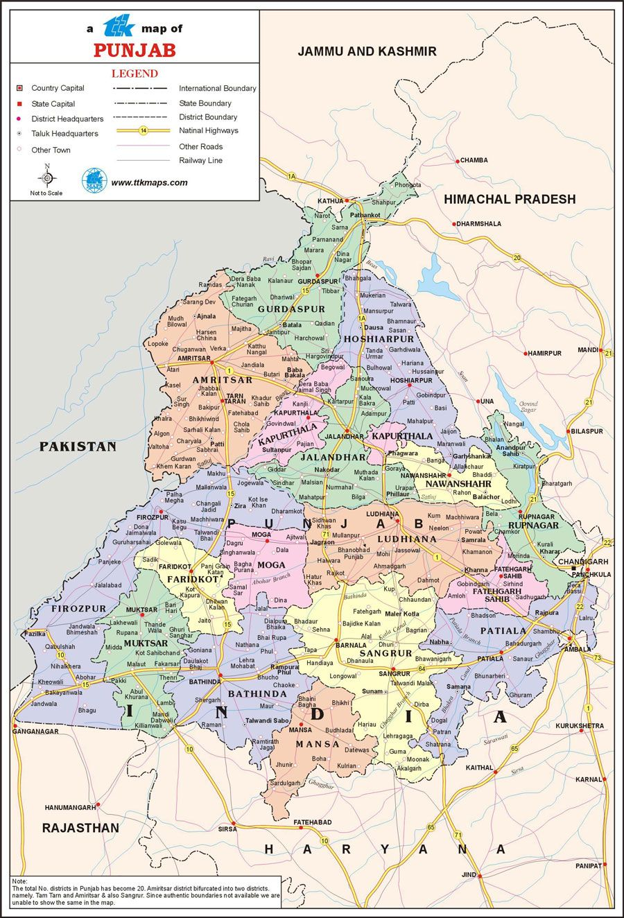 Punjab World Map.Map Of Punjab Know My Country Map Country