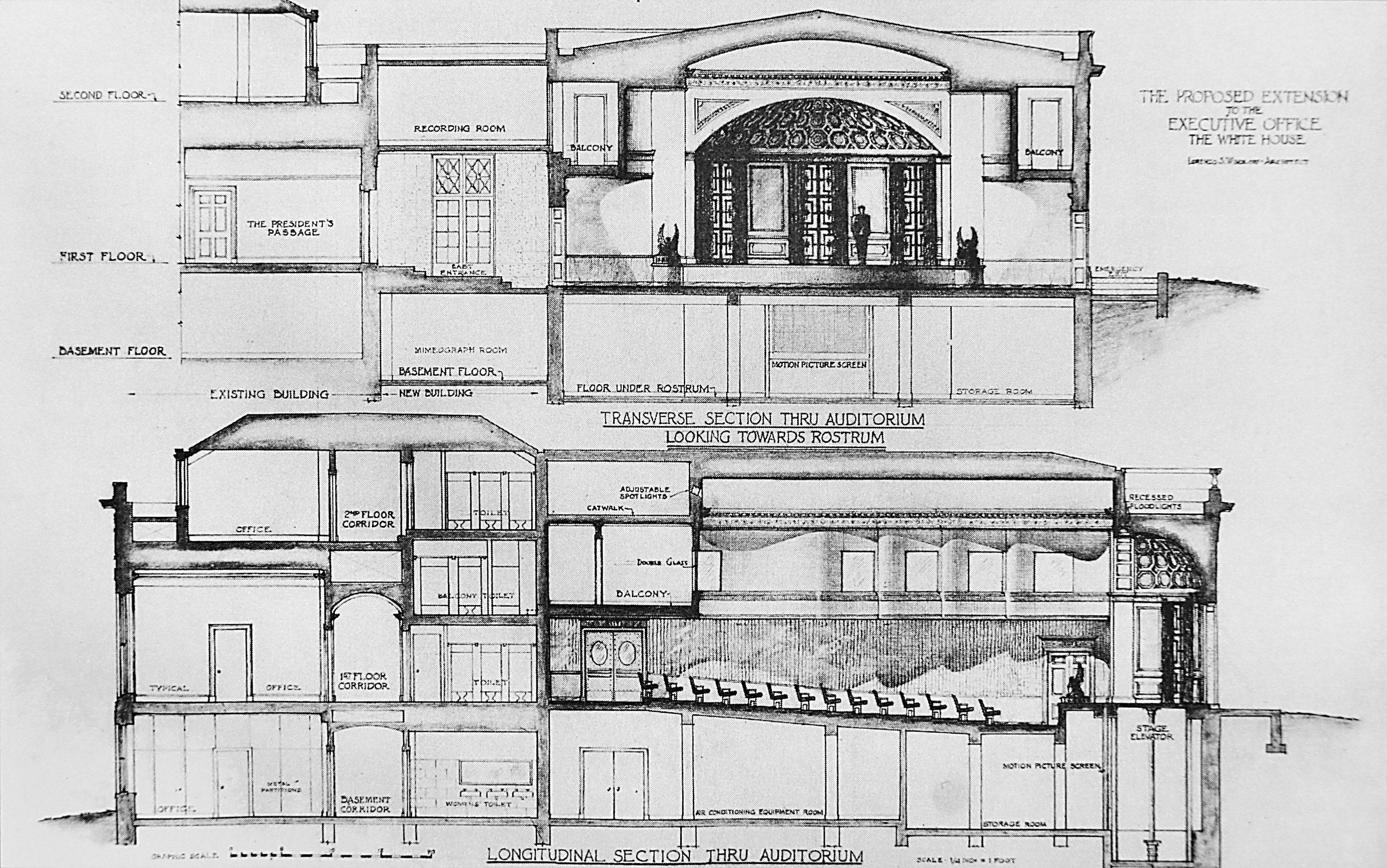 Truman Reconstruction House Extension Plans House Museum Architecture Drawing