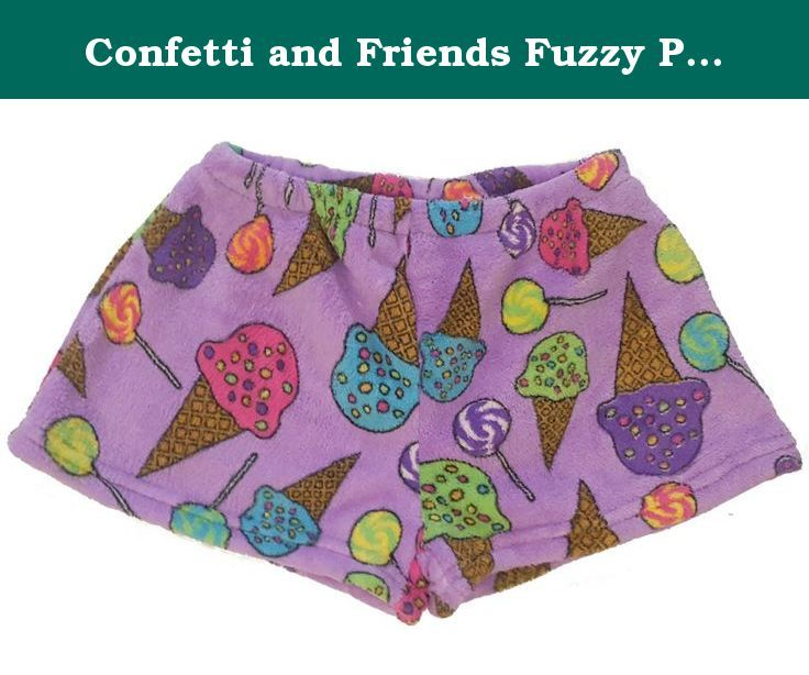 4f46d040b3c0 Confetti and Friends Fuzzy Plush Pajama SHORTS - Lollies and Icecream -  14 16. Stay warm and cozy in these trendy pajama shorts from Confetti and  Friends!