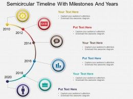 Hb Semicircular Timeline With Milestones And Years Powerpoint
