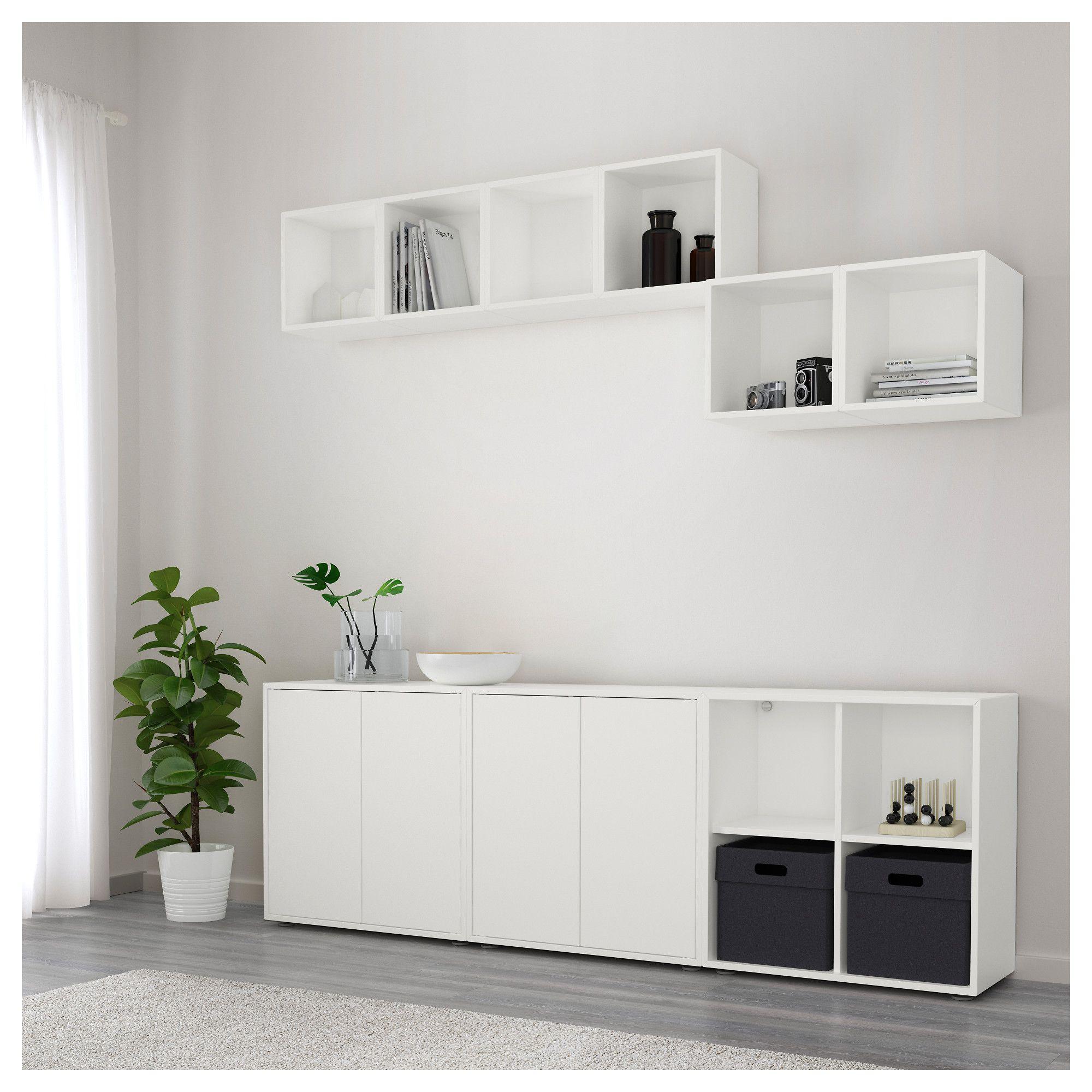 EKET Storage combination with feet, white | Ikea eket, Storage and ...
