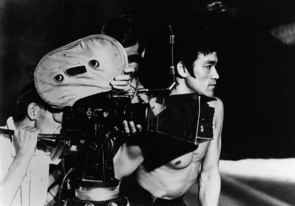 """Bruce Lee on the set of """"The Way of The Dragon"""", 1973"""