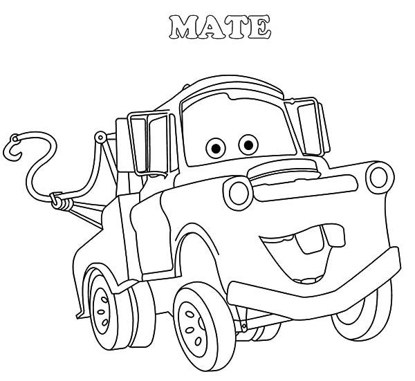 Mater Drawing Tow Mater Coloring Pages Drawing Tow Mater