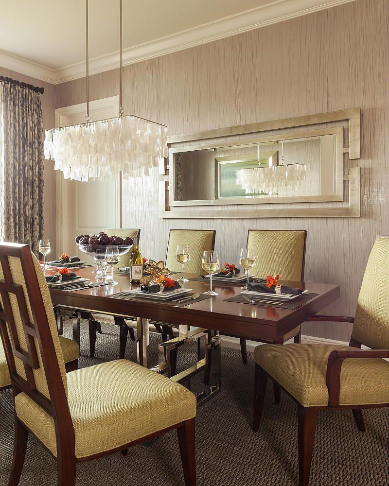 stunning installation of nice wallcovering in a residential dining room interior design by kl interiors - Kcheninnovationen Inkl