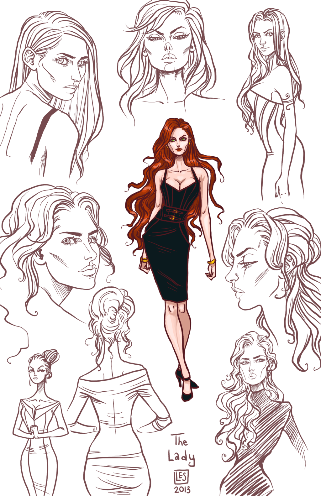 Sketch Page The Lady By Blackbirdink On Deviantart Sketches Art Female Sketch