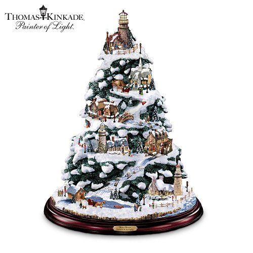 Thomas Kinkade Christmas By The Harbor Lighthouse Artificial Tabletop Christmas  Tree by The Bradford Exchange Bradford Exchange Best Price | Top Selling ... - Thomas Kinkade Christmas By The Harbor Lighthouse Artificial