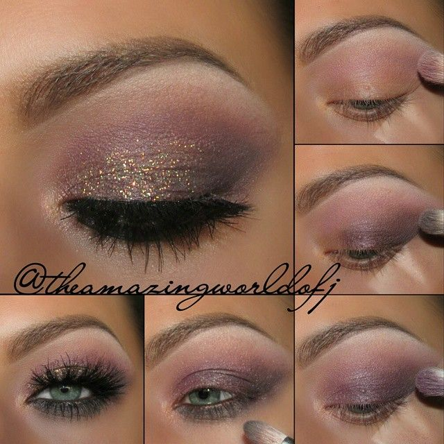 """""""Hi there! Last post for today, tutorial for the previous look ☺ Enjoy!! ♡  @makeupgeekcosmetics shadows ▫White Lies (brow bone) ▫Purely Naked/Wisteria…"""""""