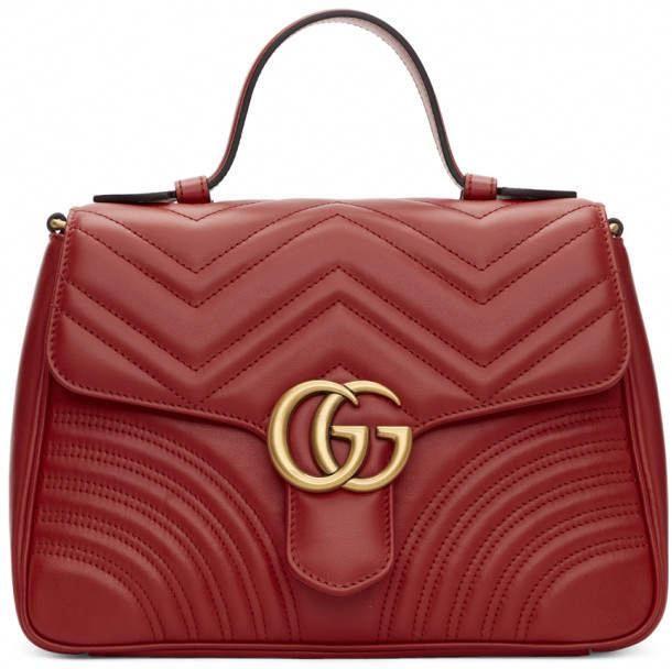 37894161384f Gucci Red Small GG Marmont 2.0 Bag #Guccihandbags | Gucci handbags ...