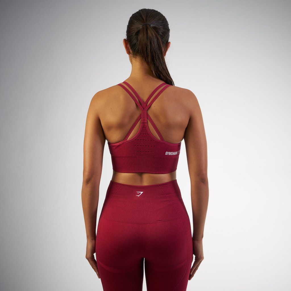 95c044a617 Gymshark Seamless Cross-Back Sports Bra - Beet