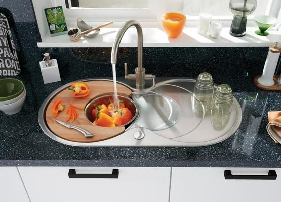 Lamona Round Bowl Sink with Drainer and Lamona Brushed Steel ...