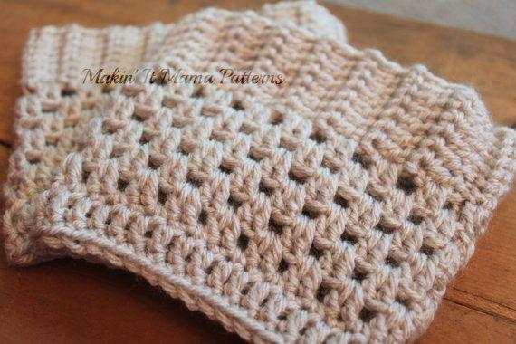 Crochet Boot Cuff PDF Pattern Instant by MakinItMamaPatterns,