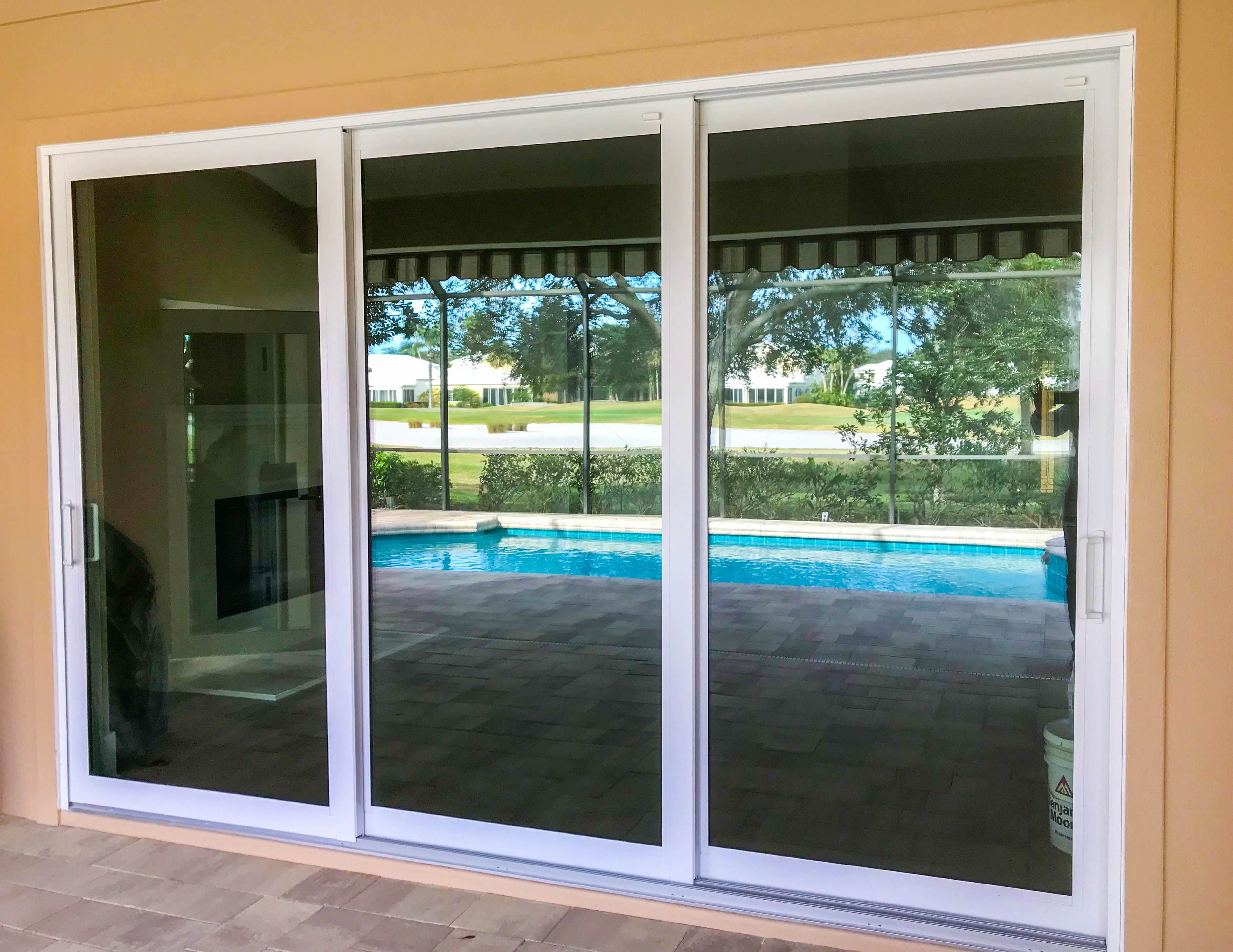 Pgt Wingaurd Sliding Glass Doors Installed By Mullet S Aluminum Products Inc Sliding Glass Door Aluminium Sliding Doors Sliding Door Design