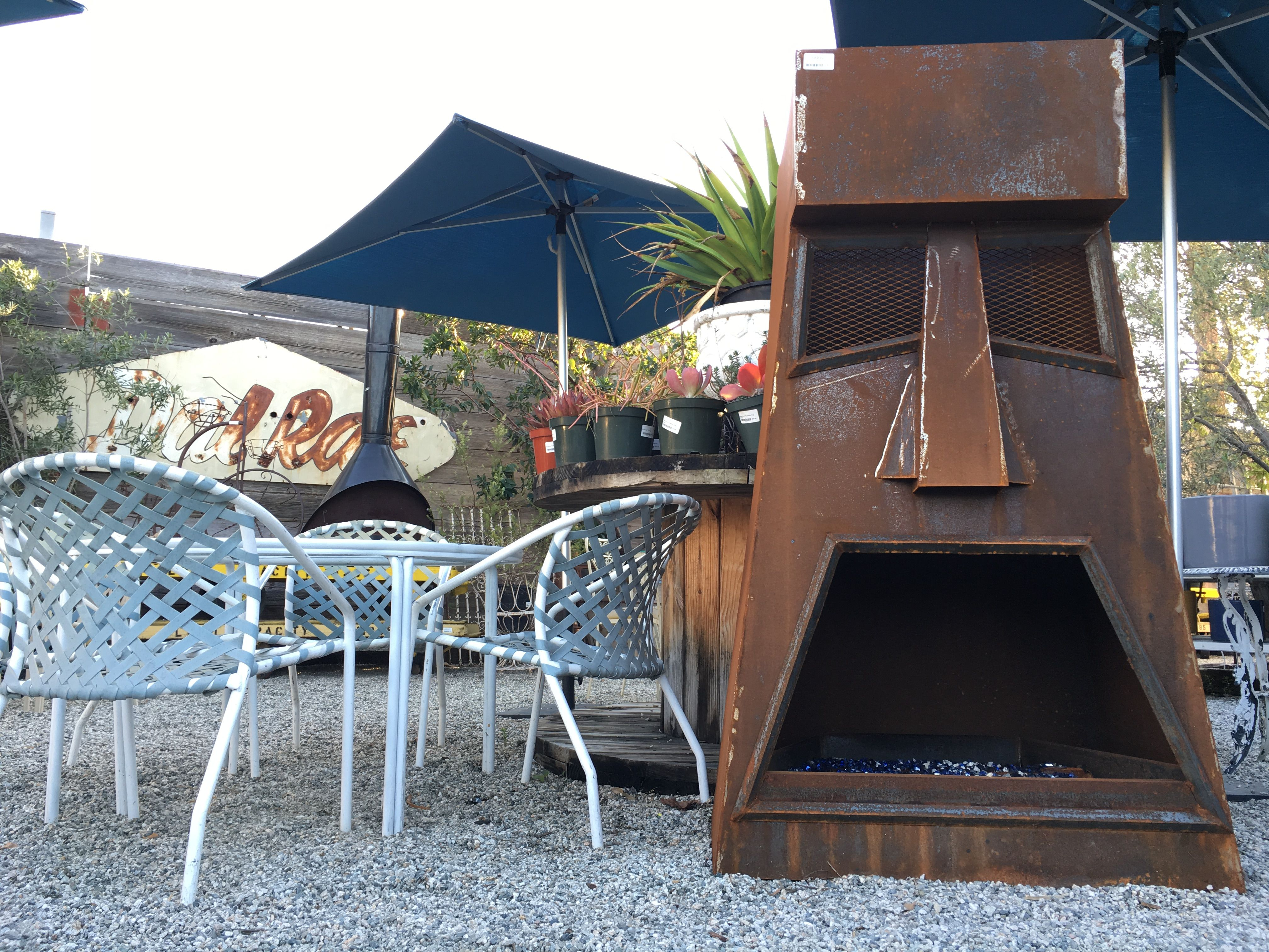 Tiki Fire Pit Made Of Scrap Metal Made By Jonny Emerick Of Emerick S Ironworks This Tiki Is Actually Ma Fire Pit Gallery Fire Pit Essentials Outdoor Fire Pit