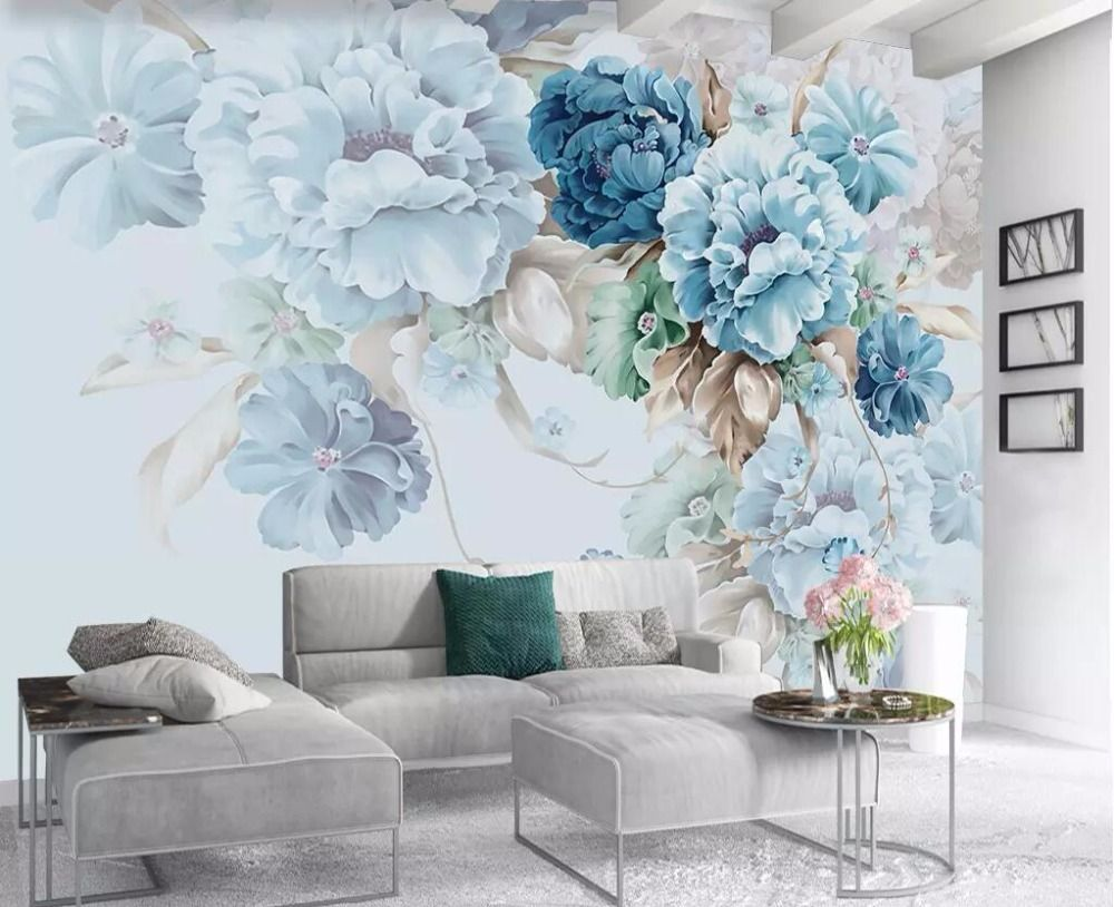 Beibehang Custom Wallpaper Nordic Fresh Hand Painted Peony Fl
