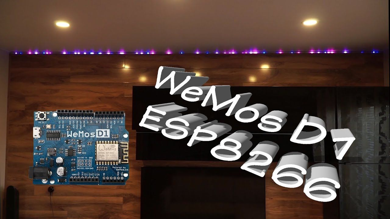 LED strip (WS2812B) controlled with WeMos D1 R2 WiFi ESP8266