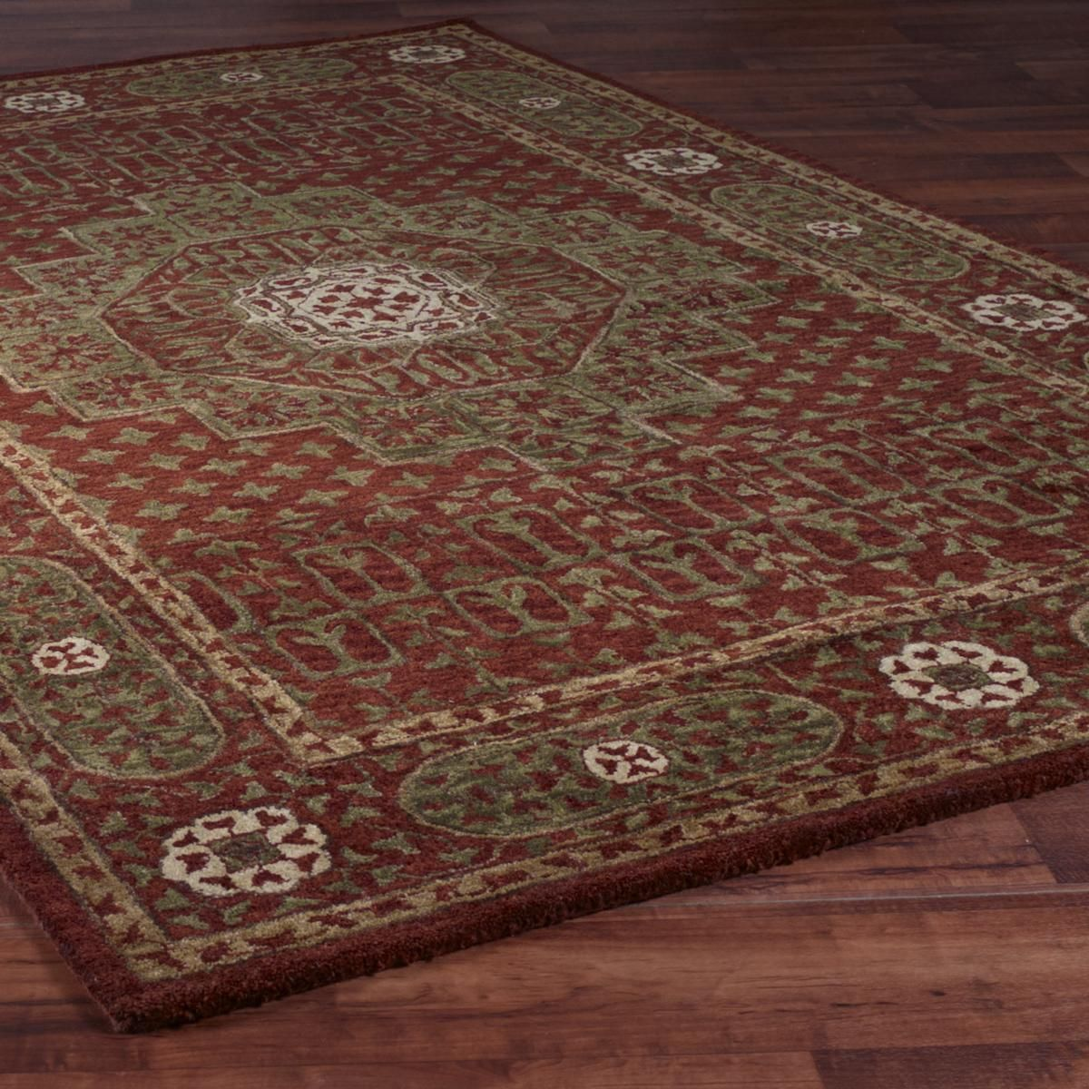 Medallion Tree of Life Hand Tufted Rug 3 Colors