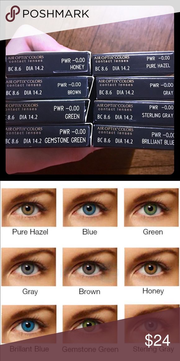 Color Contacts 2 Pairs Air Optix monthly contacts 2