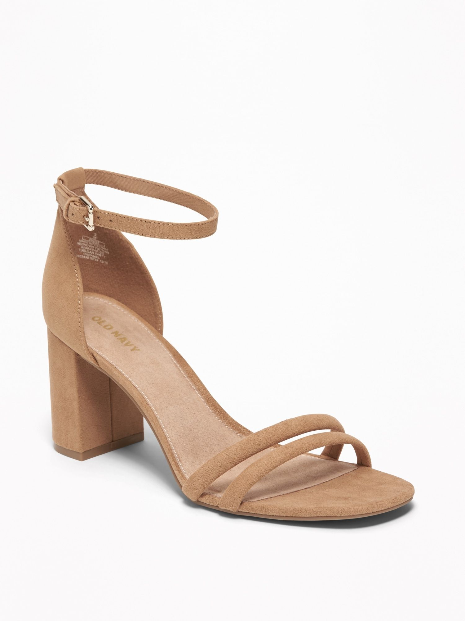 Product Sandals Heels Strappy Block Heels Strappy Block Heel Sandals